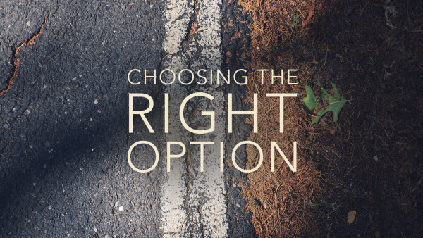Choosing the Right Option