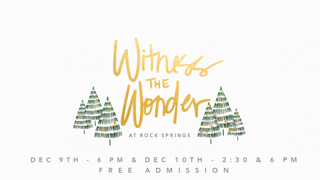 Witness the Wonder Christmas Production