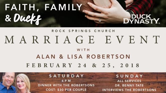 Faith, Family, & Ducks Marriage Event w/ Alan & Lisa Robertson