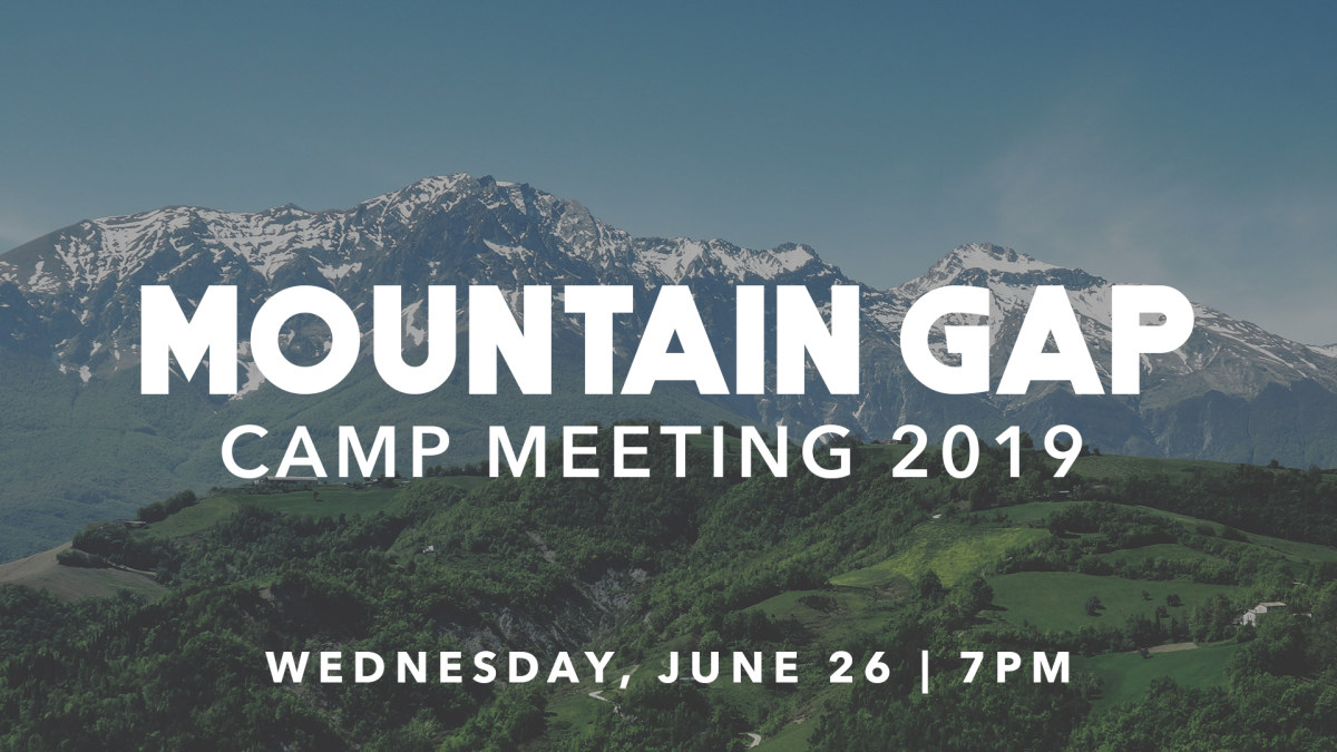 Mountain Gap Camp Meeting - No Wednesday Activities
