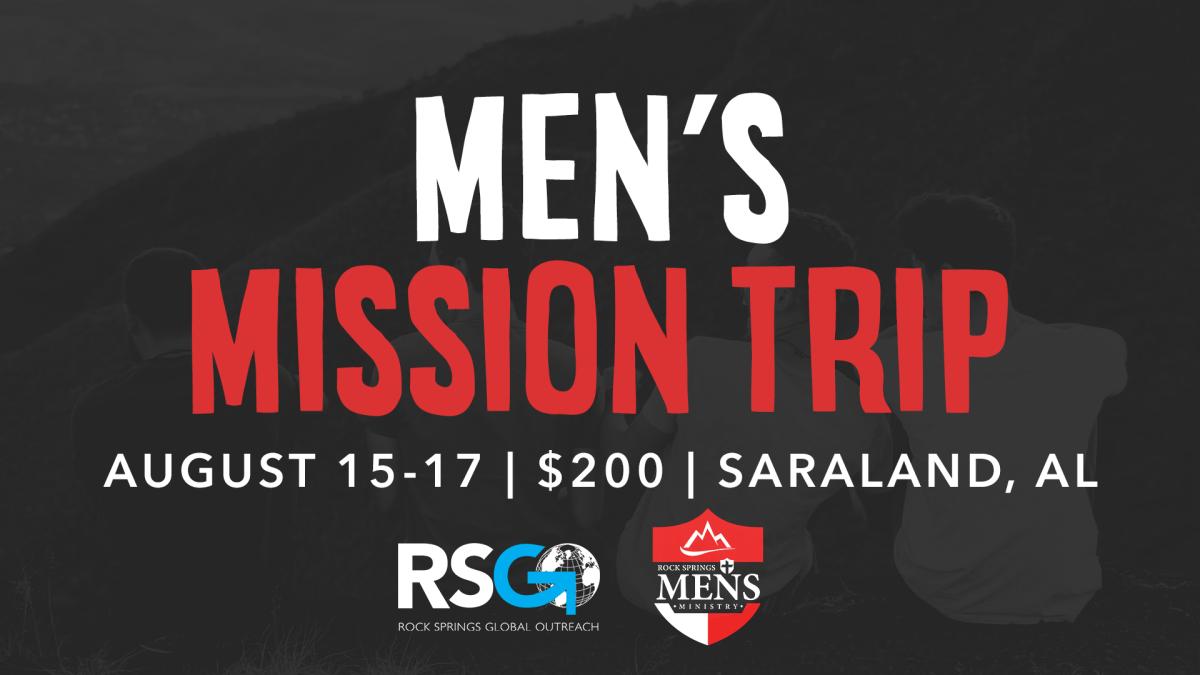 Men's Mission Trip