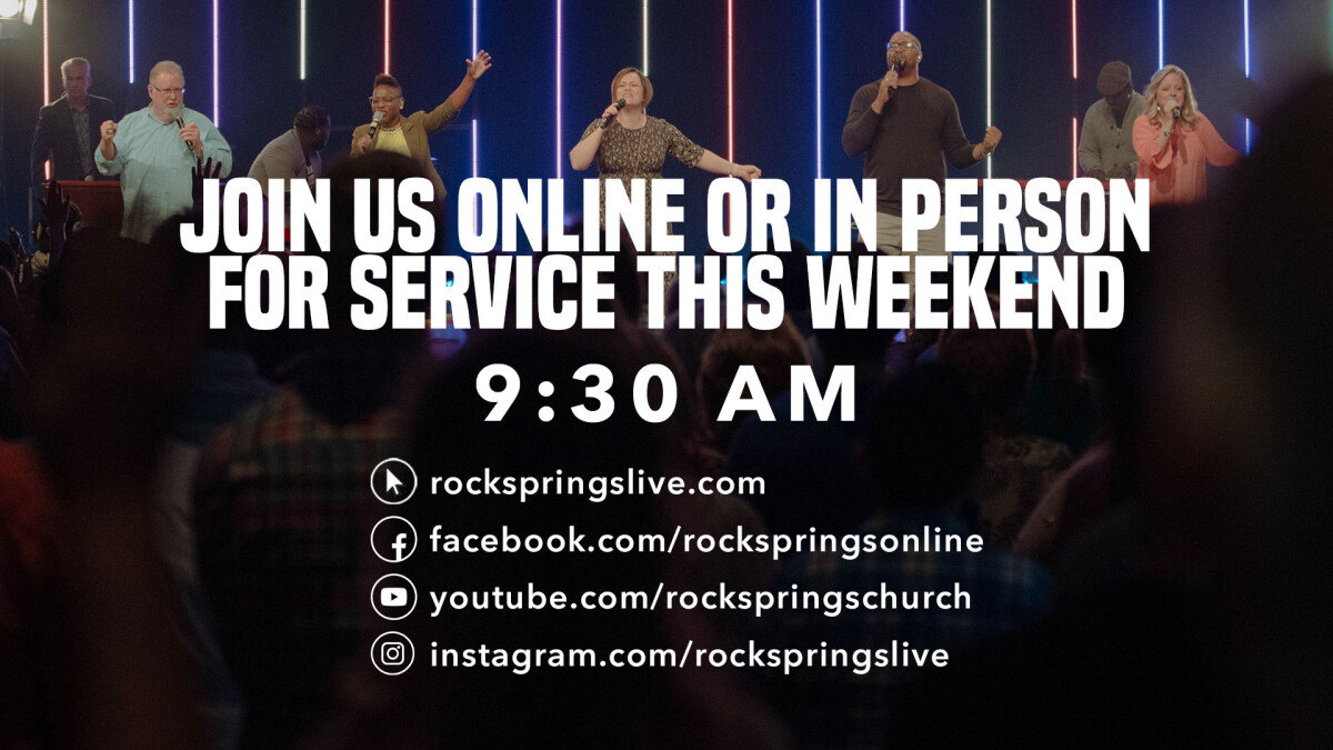 Watch Live! Sunday 9:30AM