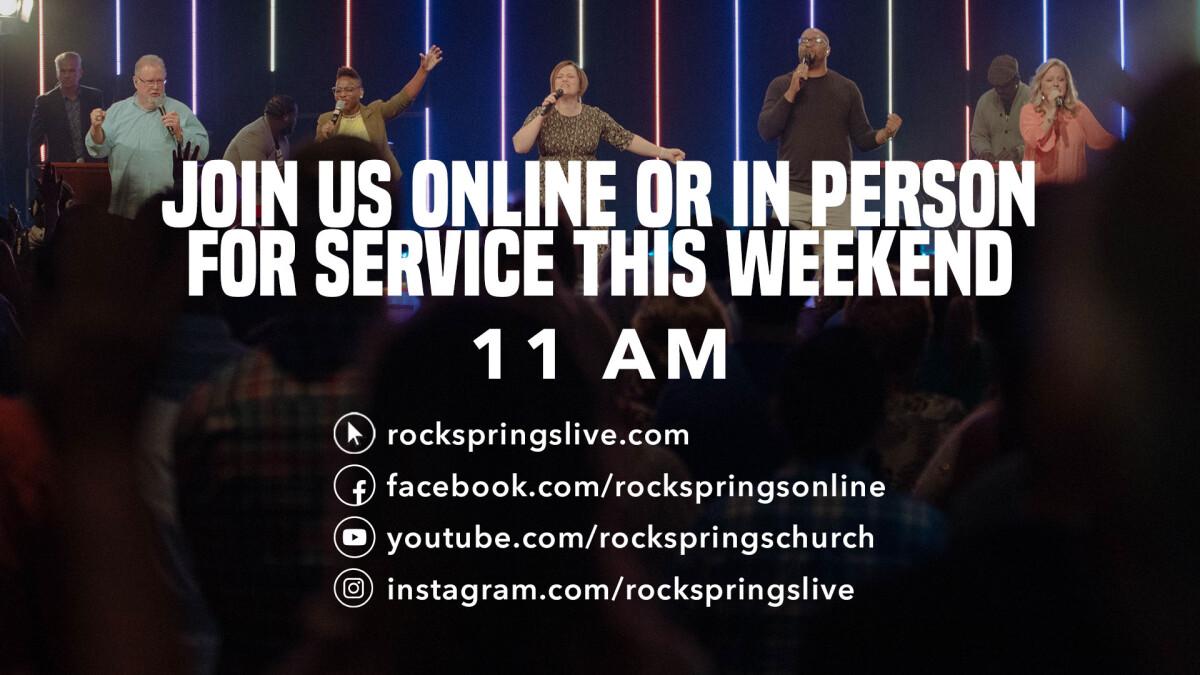 Watch Live! Sunday 11:00AM